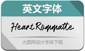 HeartRommatte(英文字体)