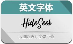 HideSeek(英文字体)