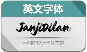 JanjiDilan(英文字体)