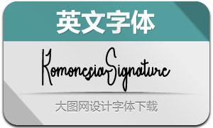 KomonesiaSignature(英文字体)