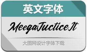 MeegaJuctice-Italic(英文字体)