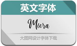 Miera(英文字体)