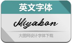 Miyabon(英文字体)