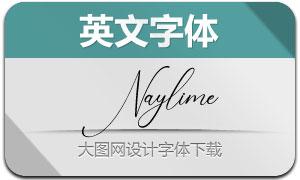 Naylime(英文字体)