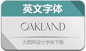 Oakland(英文字体)