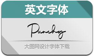Punchy(英文字体)