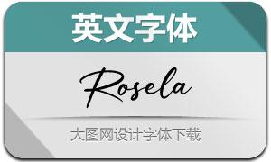 Rosela(英文字体)