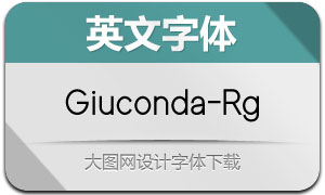 Giuconda-Regular(英文字体)
