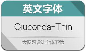 Giuconda-Thin(英文字体)