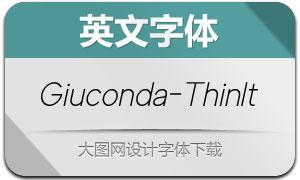 Giuconda-ThinItalic(英文字体)