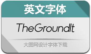 TheGround-Italic(英文字体)
