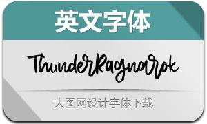 ThunderRagnarok(英文字体)