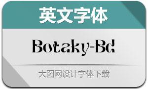 Botaky-Bold(英文字体)