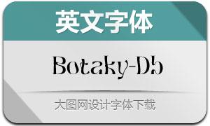 Botaky-DemiBold(英文字体)