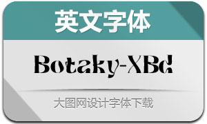 Botaky-ExtraBold(英文字体)