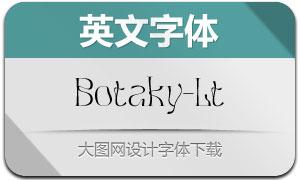 Botaky-Light(英文字体)
