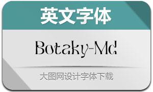 Botaky-Medium(英文字体)