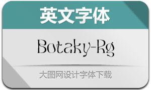 Botaky-Regular(英文字体)