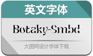Botaky-SemiBold(英文字体)