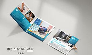商务宣传等折页广告设计模板源文件