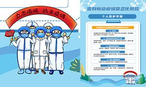 做好新冠疫情常态化防控宣传海报设计