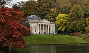 英国斯托海德风景园庙宇等摄影图片