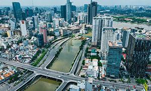 越南胡志明市城市景观摄影高清图片