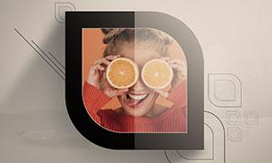 几何图形装饰边框创意照片模板素材