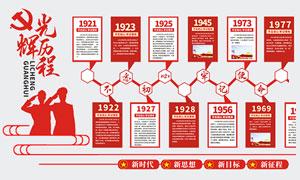 党的光辉历程党建文化墙设计矢量素材