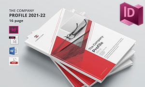 红色配色企业宣传画册版式设计模板