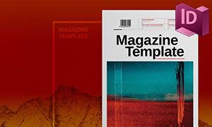 时尚杂志图文排版创意设计模板素材