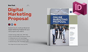 数字营销提案画册版式设计模板素材