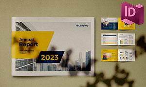 年度总结报告画册图文设计模板素材