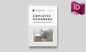 公司员工手册版式布局设计模板素材