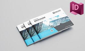 大气高端金融行业画册版式设计模板