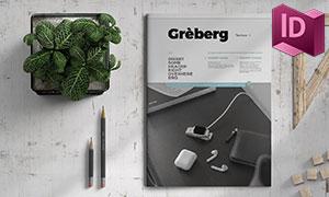 杂志图文页面布局版式模板设计素材