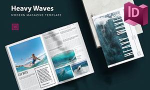 多种用途适用杂志画册版式设计模板