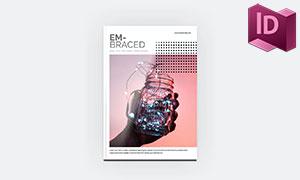 A4尺寸32页杂志画册版式设计模板