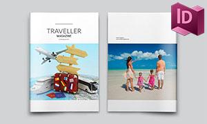 旅游风光摄影杂志画册版式模板素材