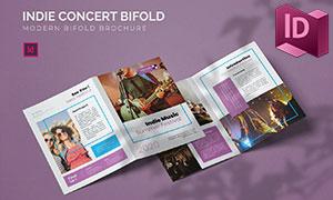 音乐节等多种用途折页版式设计模板