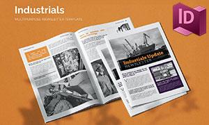 商务场景信息期刊杂志模板画册模板