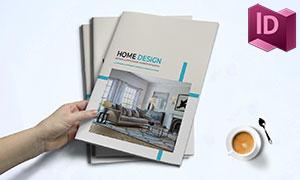 室内家具产品宣传图册排版设计模板