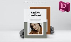 双尺寸规格的时尚杂志画册版式模板