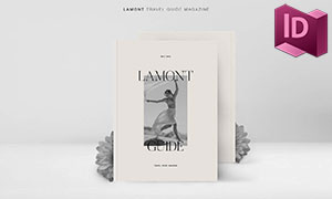 旅游指南杂志画册版式设计模板素材