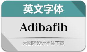 Adibafih(英文字体)