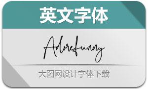 Adorefunny(英文字体)