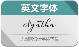 Agatha(英文字体)