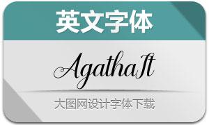 Agilia-Italic(英文字体)
