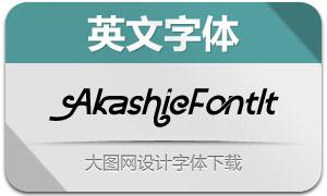 AkashicFont-Italic(英文字体)