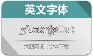 Akashic-Outline(英文字体)